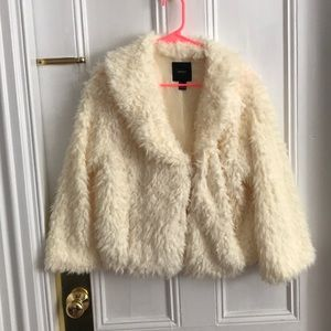 Forever 21 Faux-Fur Cropped Jacket, size L